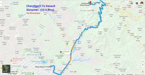 Cycling trip to Kasauli from Chandigarh