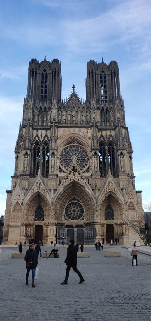 Touring away near the Reims cathedral.