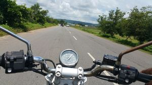 A road trip: Two wheels can move one soul
