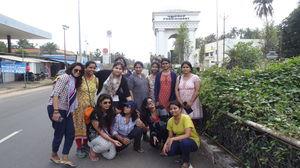 Group of girls at Pondicherry