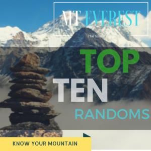 Top ten WEIRD Facts about Mt.Everest