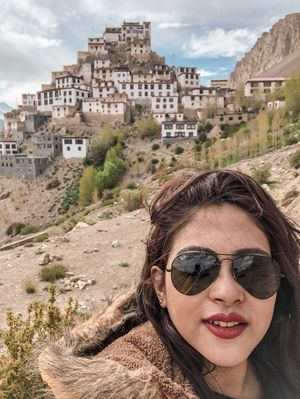 Visiting the Key Monastery  was quite a dream.  #SelfieWithAView #TripotoCommuntiy