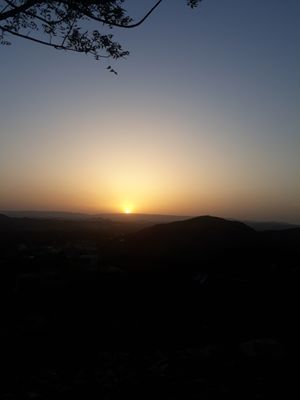 A NEW SUN SET POINT IN RAJSAMAND TOWN, CENTRAL     RAJASTHAN, NW INDIA