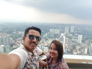 At klcc menara tower, Kuala Lumpur. #SelfieWithAView #TripotoCommunity
