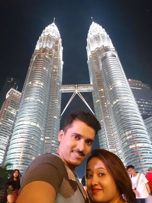 At petronas twin towers, Kuala lumpur. #SelfieWithAView #TripotoCommunity