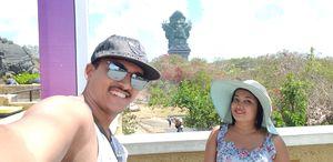 At GWK Cultural park, Bali. #SelfieWithAView #TripotoCommunity