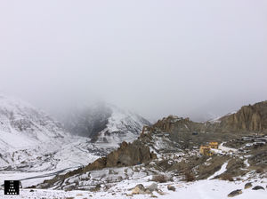 Dhankar Gompa -Spiti Valley in Winters