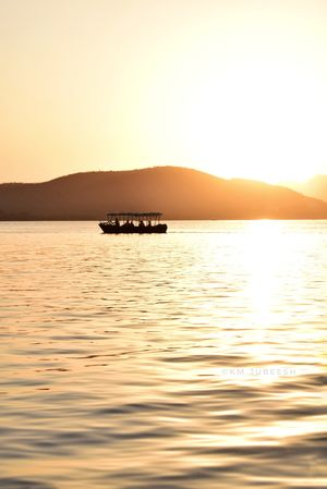 Sunset from Lake Pichol, Udaipur- Rajasthan