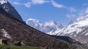 Some Mountain Peaks Visible From Hamta Pass... Date :- 20th June, 2018  #hamtapass #trek #manali