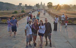 Visit of Angkor Wat, Cambodia
