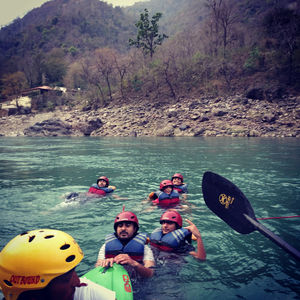 How I had a narrow escape while white water rafting at Rishikesh