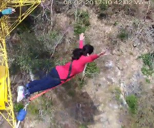 India's highest bungy point - Jumping height, Rishikesh!