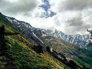 Dhana kunnu peak in the Himalayan mountain ranges, Himachal Pradesh.