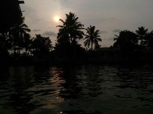 A day in Alleppey water's, watching sunset