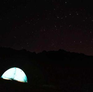 Gadsar pass at night ,Kashmir great lakes trek  #Tripotocommunity #TripotoTakeMeToGoa