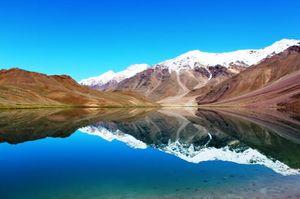 Dip in Chandrataal Lake freezing water at 4300m :)