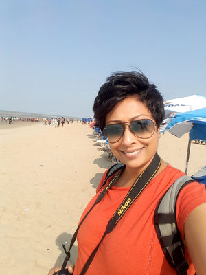 At the longest natural sea beach in the world #SelfieWithAView and #TripotoCommunity