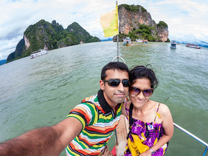 Happy selfie while exploring the beautiful islands of Thailand! #SelfieWithAView #TripotoCommunity