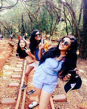 Walking along the railway tracks: Matheran