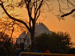 In the Serenity of Bahai Temple - Lotus Temple - The Bahai House of Worship