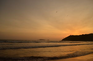 Enjoy the sunset at this off the radar beach in Goa
