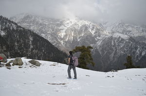 Triund - The off season hike in snowfall