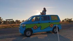 Exploring the great ocean road (Australia) in a campervan.