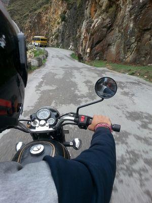 Bullet Ride to kasol himachal