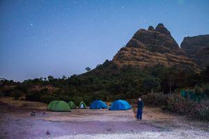 Kalavantin Durg trekking and camping at prabalmachi near mumbai