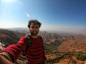 Selfie at the beautiful Aravalli Range! #Selfiewithaview #tripotocommunity
