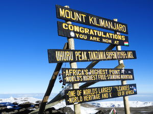 Climbing Mt. Kilimanjaro via 7 days Machame route and 2 days Tanzanian wildlife safari