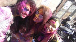 Festival of colour in Udaipur