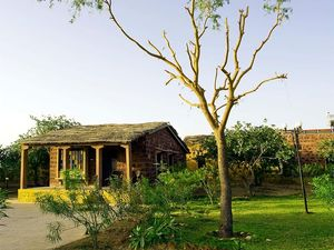 Head to this peaceful nature resort, just an hour away from biggest desert of India.
