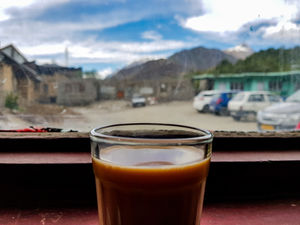 Chai and the mountains  #BestTravelPictures @tripotocommunity @jetairways