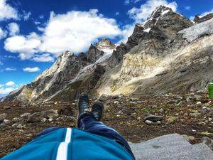 Deo tibba 6001 meter mountain. Situated in pir Panjal range.