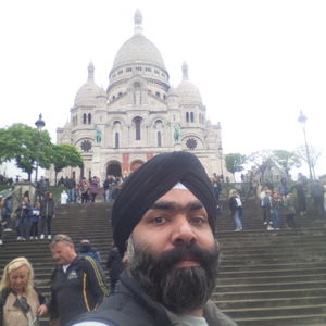 Top of a hill a sacred place... Basilica of Sacred Heart of Paris #SelfieWithAView #TripotoCommunity