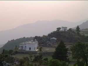 George Everest's : A man's living room view now turned tourist spot.