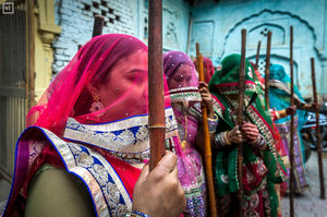 Holi celebration in Barsana and Nandgaon,Uttar Pradesh