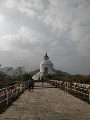 World Peace Pagoda ...Vivid and  peace palace