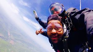 Dare to Die ..... selfi skydiving   #selfiwithaview #tripotocommunity