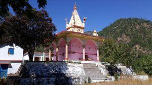 Ma Renuka Devi Mandir Nakuri Uttarkashi and around it.