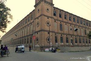 The First Woollen Mill in India. Cownpore Woollen Mills 1876.