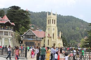 Glimpses of Shimla Mall road and Christ Church