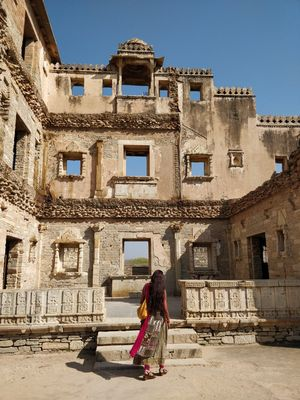 Ruins of Kumbha Mahal #Heritage #Forts #architectures
