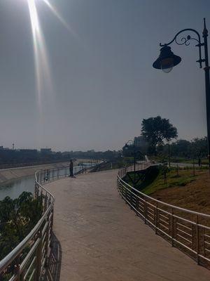 Landscape park alongside a River in Jaipur #notontripoto