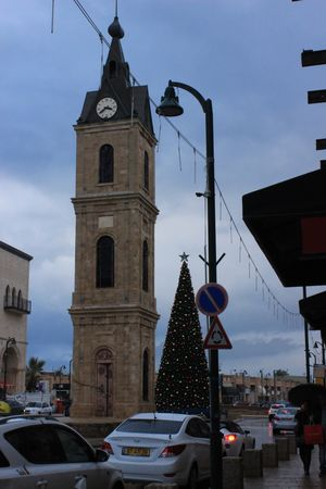 Jaffa Clock Tower and Old Jaffa Beach #Israel