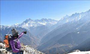 Kuari pass,the Lord Curzon trail--trekkers paradise,snow wonderland