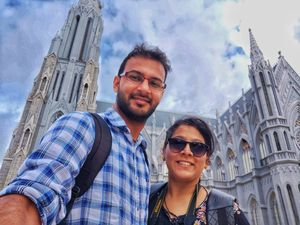 #SelfieWithAView #TripotoCommunity  Exploring the Gothic architecture in Mysore