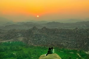 The Sunrise at Hampi