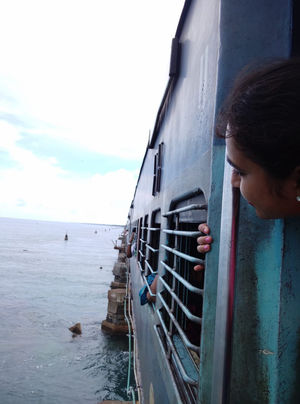 Heard Of train On ocean? Experience It For Just 10₹
